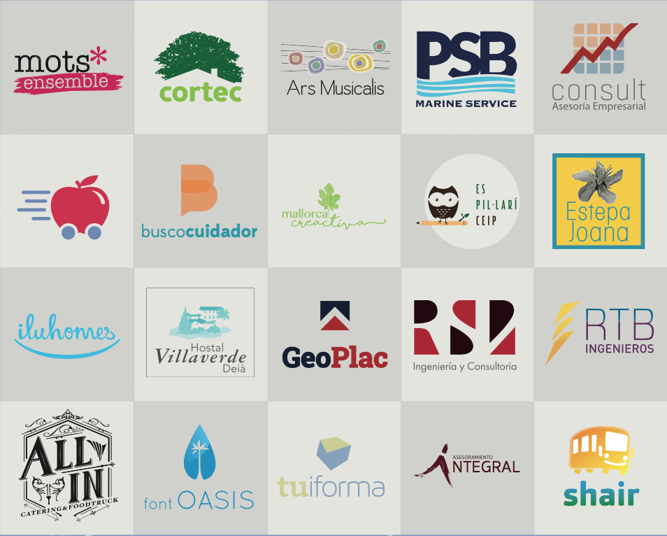 Logos empresas que confian en TeixWeb Studio
