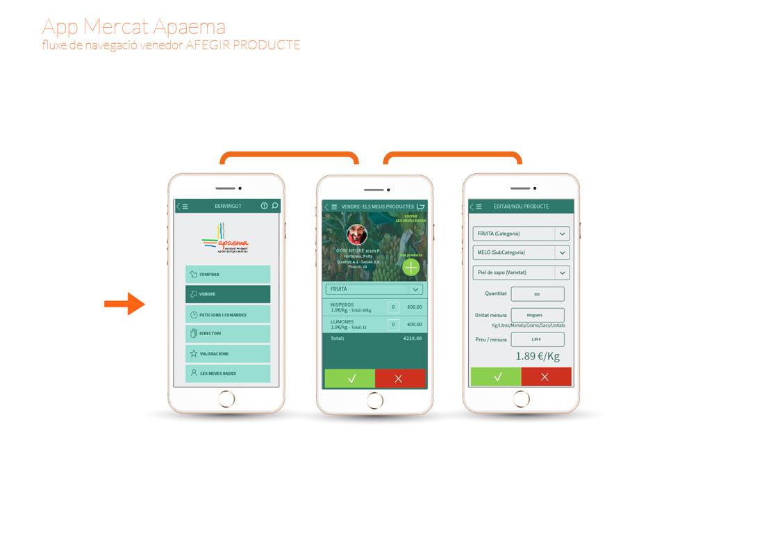 app-ecollonja flujo de navegación vendedor-nuevo producto TeixWeb Studio Palma de Mallorca