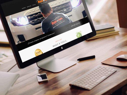 Magic & Tools – Diseño corporativo + web + sesion fotografica