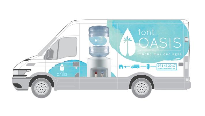 Font Oasis Diseño de rotulación de furgoneta